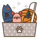 cat, care, toy, toys, box, plush icon