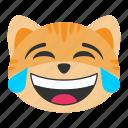 cat, emoji, emoticon, face, funny, joy, smile