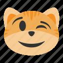 cat, emoji, emoticon, face, fun, happy, smile