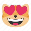 cat, emoji, face, happy, heart, love, smile