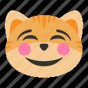cat, cheerful, emoji, face, fun, happy, smile