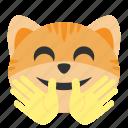 cat, emoji, face, happy, hug, love, smile