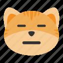cat, emoji, expressionless, face, natural, real, serious