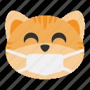 cat, disease, emoji, mask, medical, protection, virus