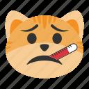 cat, check, emoji, health, medical, temperature, thermometer