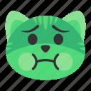 cat, emoji, emotion, face, illness, nausea, sick