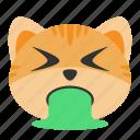 cat, emoji, face, nausea, sick, vomit, vomiting