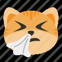 cat, emoji, flu, infection, sick, sneeze, virus