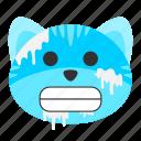 cat, chilly, cold, disease, emoji, flu, illness