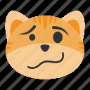 cat, cute, emoji, face, sluggish, somnolent, woozy
