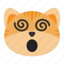 cat, confused, dizzy, emoji, face, headache, vertigo