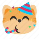 cat, celebration, emoji, fun, happy, joy, party
