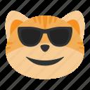 cat, emoji, fun, happy, smile, summer, sunglasses
