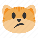 cat, confused, emoji, expression, face, question, uncertain