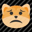 cat, confused, depression, emoji, frustrated, problem, worry