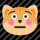 cat, cheeks, emoji, face, flushed, shy, smile