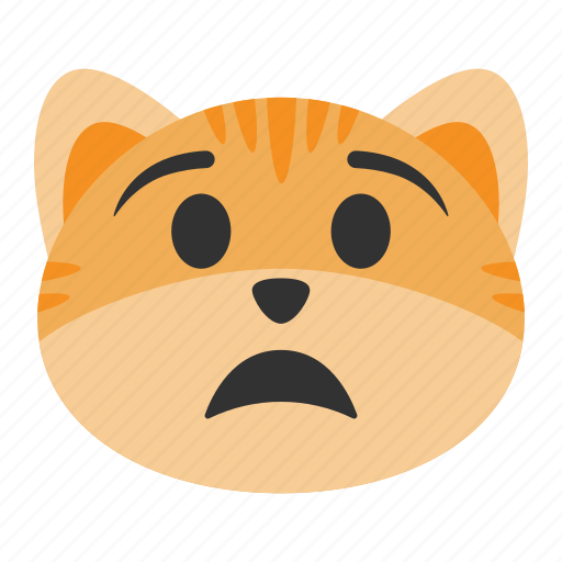 Anguish, anxiety, cat, emoji, pain, scared, upset icon - Download on Iconfinder