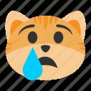 cat, cry, crying, depression, emoji, sadness, unhappy