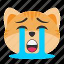cat, crying, depression, emoji, loud, sadness, unhappy