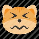 cat, confounded, emoji, emotion, expression, funny, sad