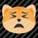 cat, emoji, intransigent, persevering, resolute, steady, unrelenting