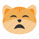 cat, despair, disappointed, emoji, expression, sadness, unhappy
