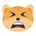 cat, exhausted, tiredness, sleepy, emoji, serious, tired icon