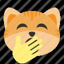 cat, emoji, exhausted, sleepy, tired, yawn, yawning
