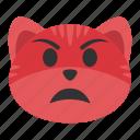cat, emoji, expression, pout, pouting, scowling, unhappy