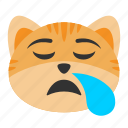 bored, cat, emoji, sleep, sleepy, tired, yawn