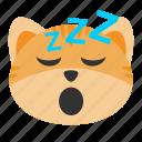 cat, emoji, lethargic, sleep, sleepy, slumberous, somnolent
