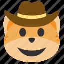 cat, cowboy, emoji, hat, head, west, western