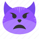 cat, emoji, face, funny, horn, monster, scary