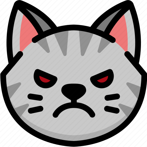 angry, emoji, emotion, expression, face, feeling, pet icon