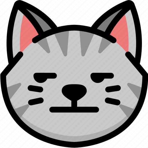 Annoying, cat, emoji, emotion, expression, face, feeling icon - Download on Iconfinder