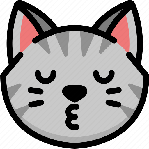 Cat, emoji, emotion, expression, face, feeling, kiss icon - Download on Iconfinder
