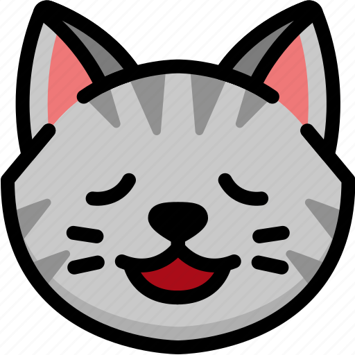 Cat, emoji, emotion, expression, face, feeling, relax icon - Download on Iconfinder