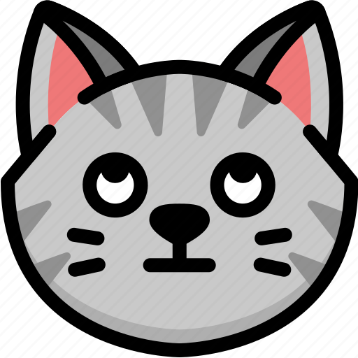 cat, emoji, emotion, expression, eyes, face, rolling icon
