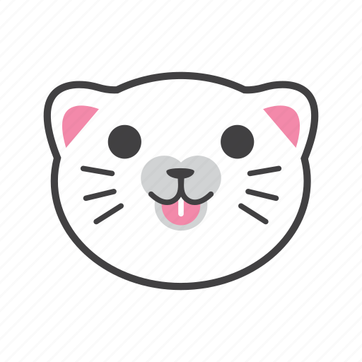 cat, face, normal, smile icon