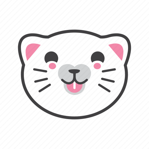 cat, face, laugh, lol icon
