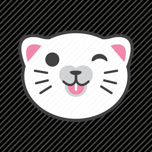 cat, enjoy, face, fun, smile icon