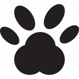 animal, paw, paw print, pet icon