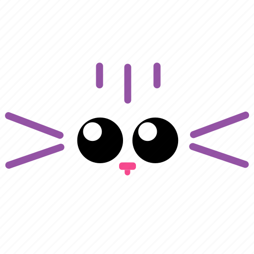 cat, cute, eyes, face, whiskers icon