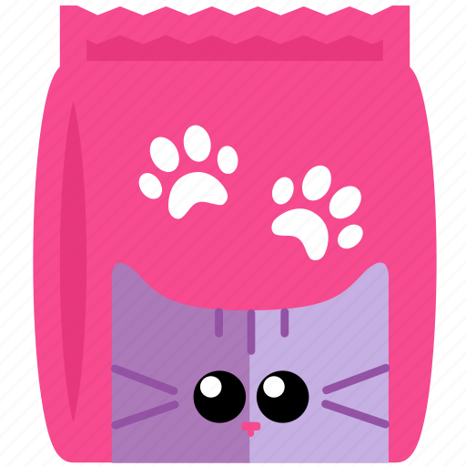 animal, cat, face, food, meal, pink icon