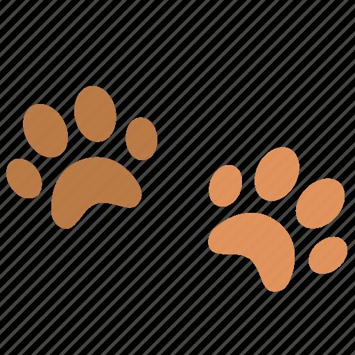 animal, cat, dog, paw, print, two icon