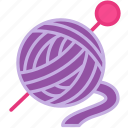 ball, pink, violet, wool, yarn icon