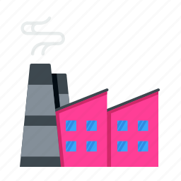 area, building, industrial, industry, infrastructure, plant, pollution icon