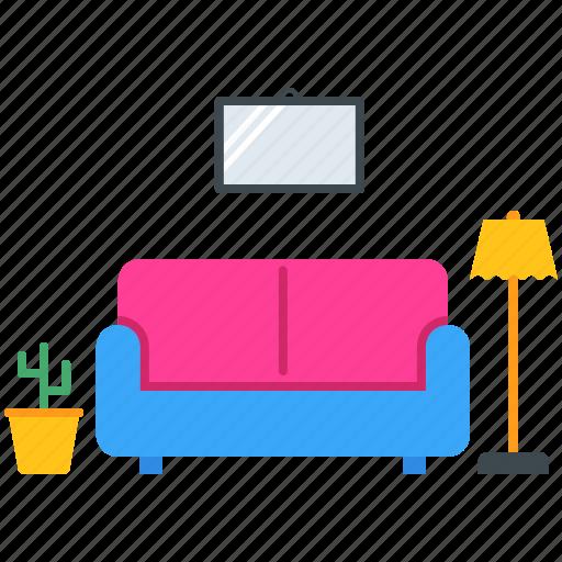decoration, decore, frame, furniture, lamp, sofa icon