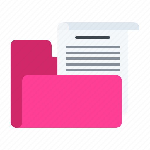 document, file, folder, important, paper icon