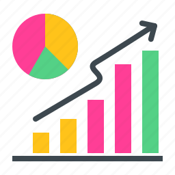 analysis, chart, graph, growth, piechart, statics, success icon